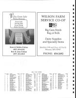 Wilson Township Owners Directory, Ads - Valley Estate Sales, Wilson Farm Service Coop, Winona County 2004